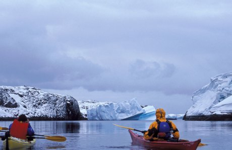 Kayaking at the end of the world
