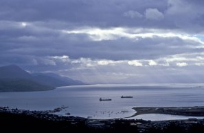 The bay at Ushuaia, Terra del Fuego, Chile