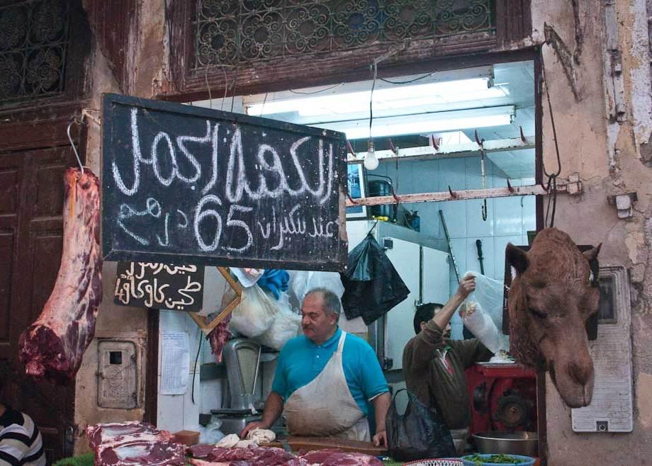 Camel anyone?, the Souq, Fes