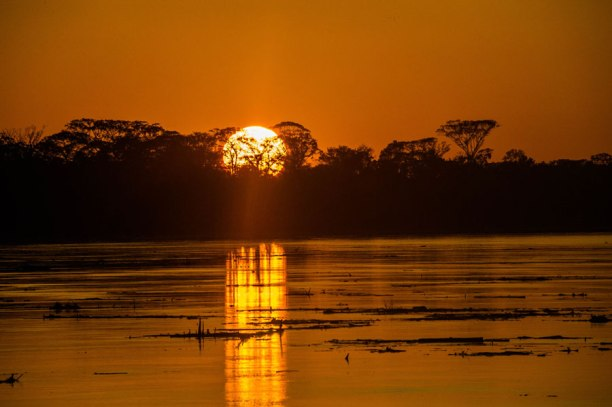 Sunset over the Amazon