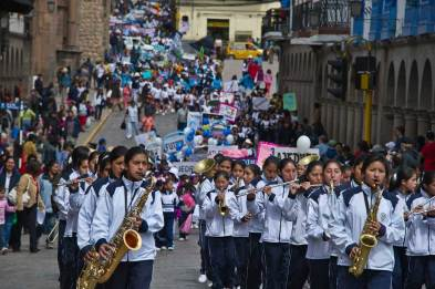 Student Parade, Cusco