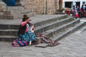 Gifted Peruvian woman in San BLas Plaza