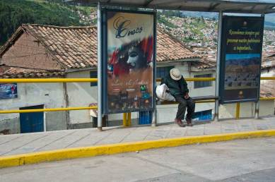 Bus stop in Cusco