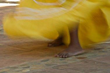 Santaria dancer, Trinidad