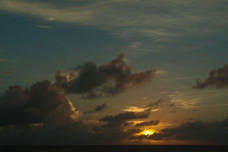 Sunrise on the international dateline