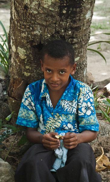 Ready for church, Dravuni, Fiji