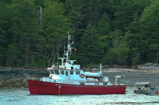 Gwaii Haanas supply boat at anchor