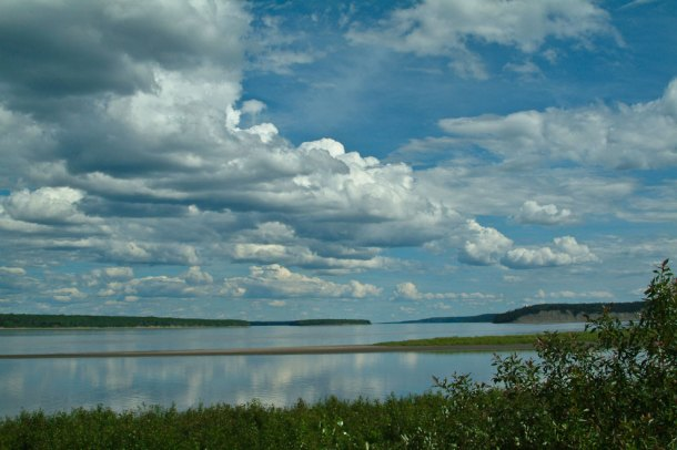 Liard and MacKenzie river confluence, NWT