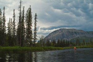 Canoeing into Little Doctor Lake, NWT