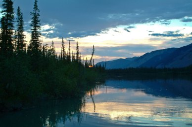 Sunset on the Nahanni, NWT
