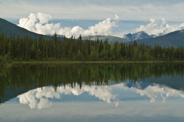 Rabbit Kettle reflection, Nahanni