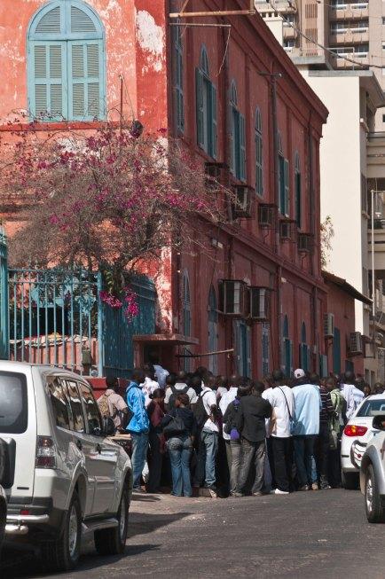 Seeking educational visas, Dakar