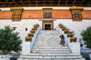 Steps to Paro Dzong