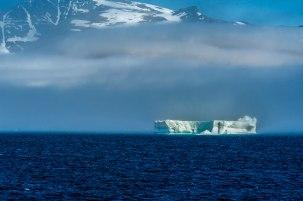 Greenland emerging through the mist