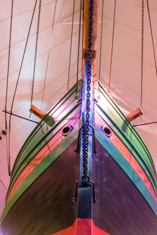 Amundsen's ship the Gjoa at the Fram Museum