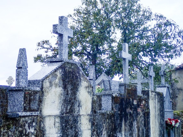 Ghostly cemeteries.