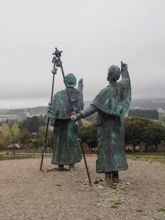 Pilgrims at Mont del Gozo