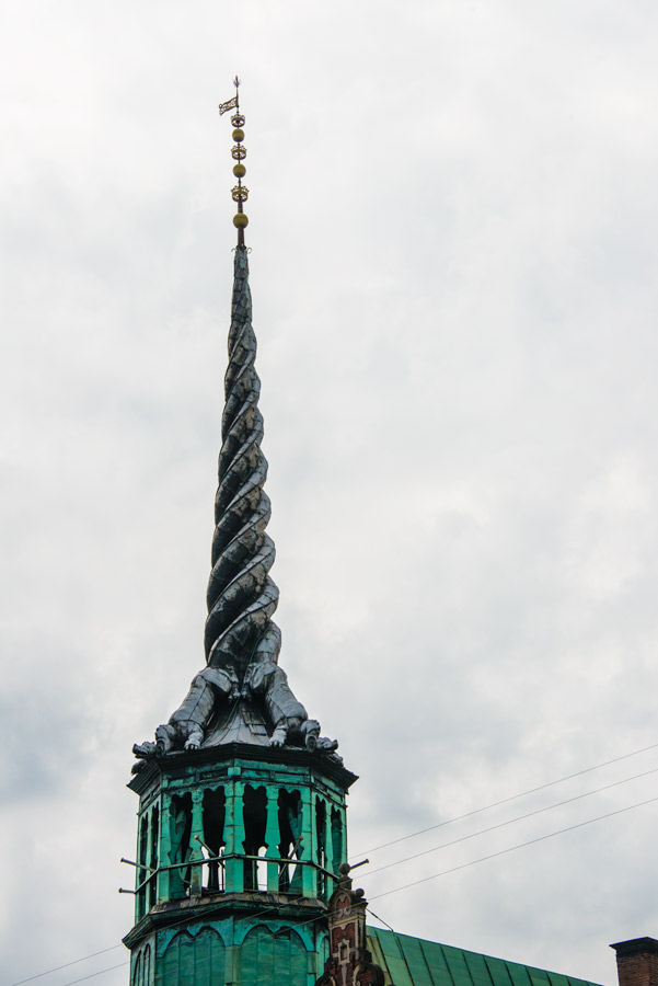 The top of the Borsen ( old stock exchange building)